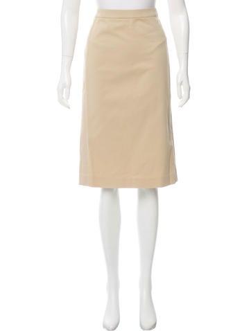 Alexander McQueen Khaki Knee-Length Skirt None