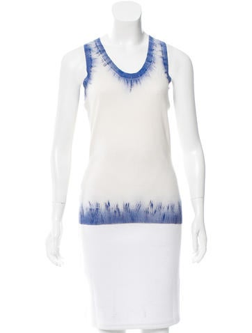 Alexander McQueen Paint-Accented Knit Top None