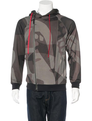 Alexander McQueen Camouflage Hooded Sweater None
