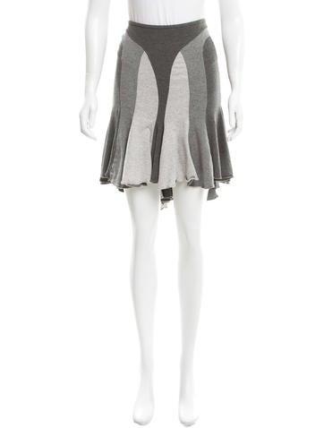 Alexander McQueen Tiered Knee-Length Skirt None