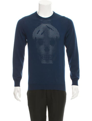 Alexander McQueen Skull Pattern Wool Sweater None