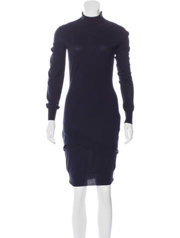Alexander McQueen Wool & Cashmere-Blend Dress None