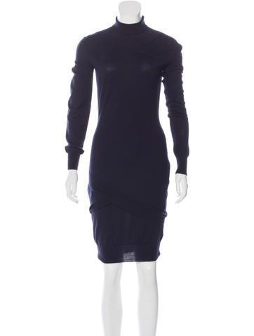 Alexander McQueen Wool & Cashmere-Blend Dress None