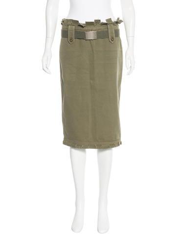 Alexander McQueen Fitted Knee-Length Skirt None