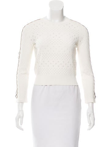 Alexander McQueen Open Knit Cropped Sweater w/ Tags None