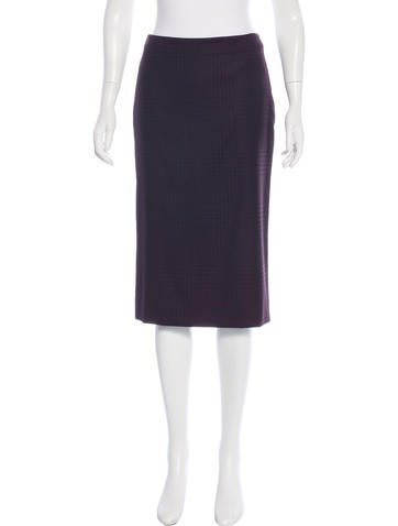 Alexander McQueen Houndstooth Wool Skirt None
