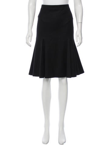 Alexander McQueen Wool Knee-Length Skirt None