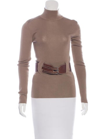 Alexander McQueen Belted Wool Top None