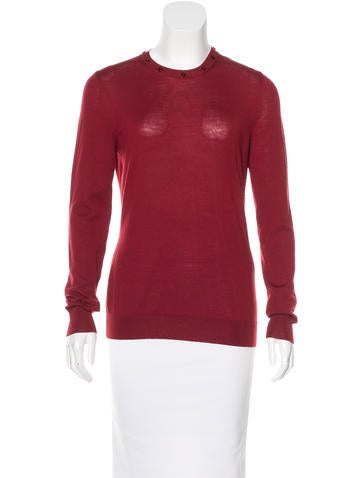 Alexander McQueen Wool Long Sleeve Sweater None