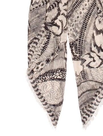 Cashmere & Silk-Blend Printed Scarf