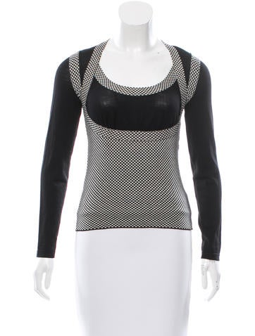 Alexander McQueen Wool Patterned Knit Top None