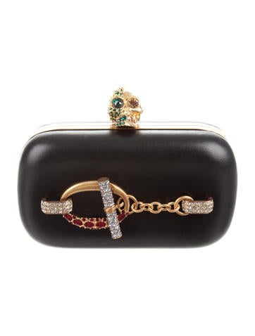 Embellished Skull Box Clutch