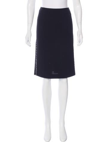 Alexander McQueen Wool Pencil Skirt None