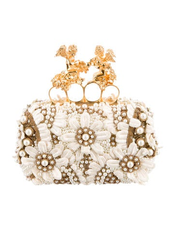 Alexander McQueen Embellished Knuckle Duster Box Clutch