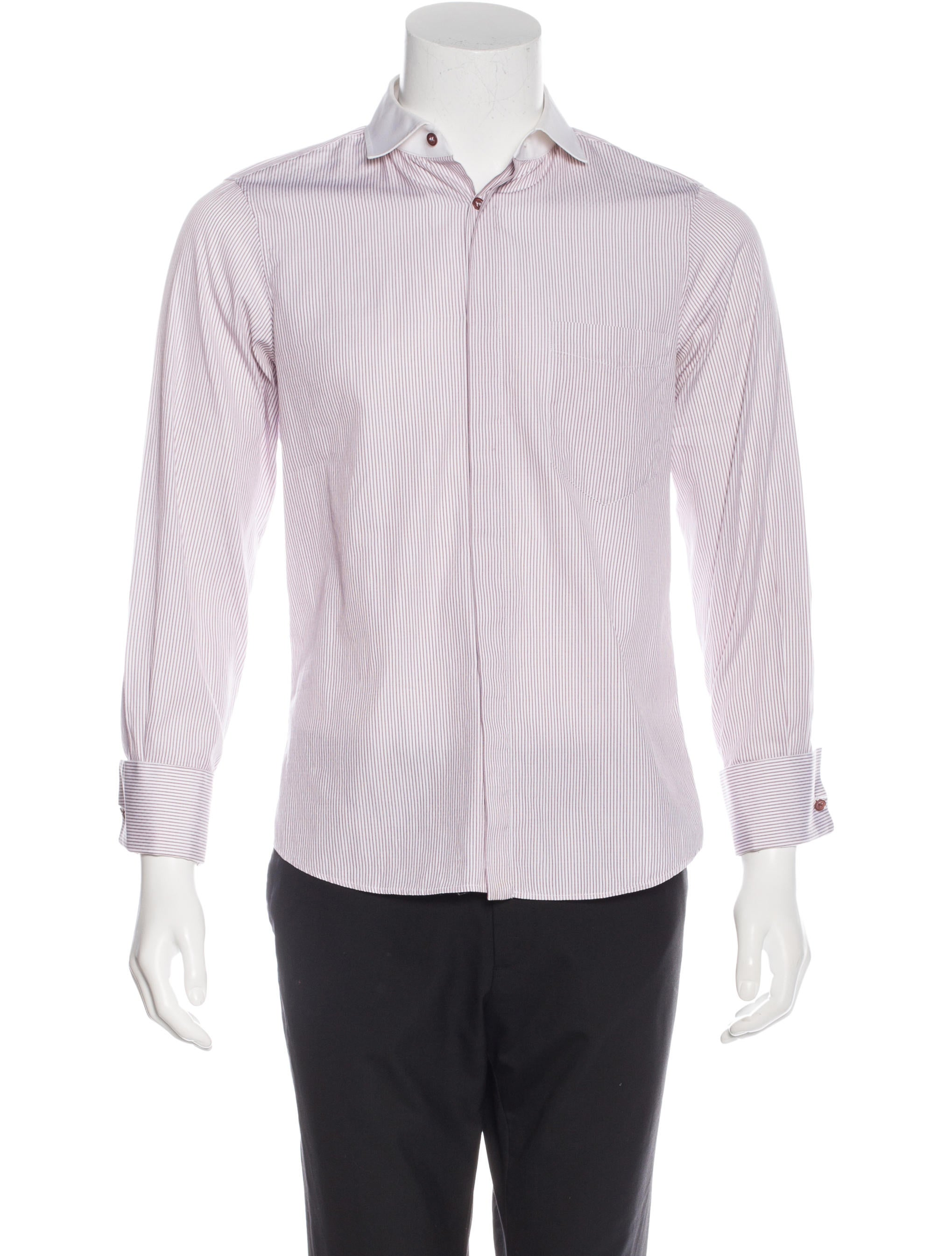 Alexander mcqueen striped french cuff shirt clothing for What is a french cuff shirt