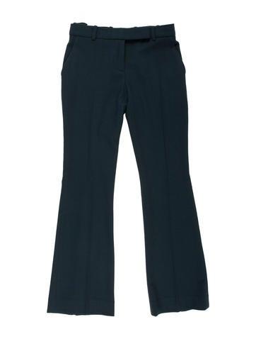 Alexander McQueen Wide-Leg Wool Pants None