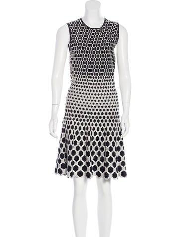 Alexander McQueen Patterned Midi Dress None