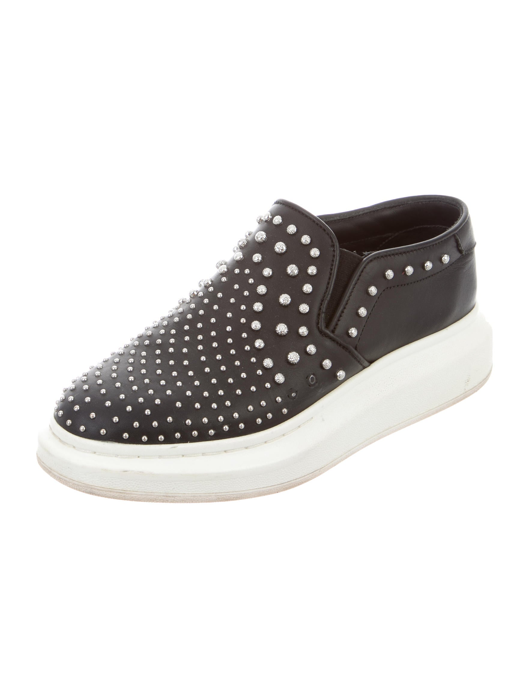 mcqueen studded slip on sneakers shoes