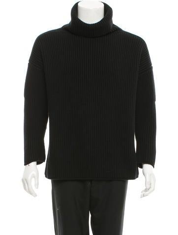 Alexander McQueen Wool & Cashmere-Blend Turtleneck Sweater w/ Tags None