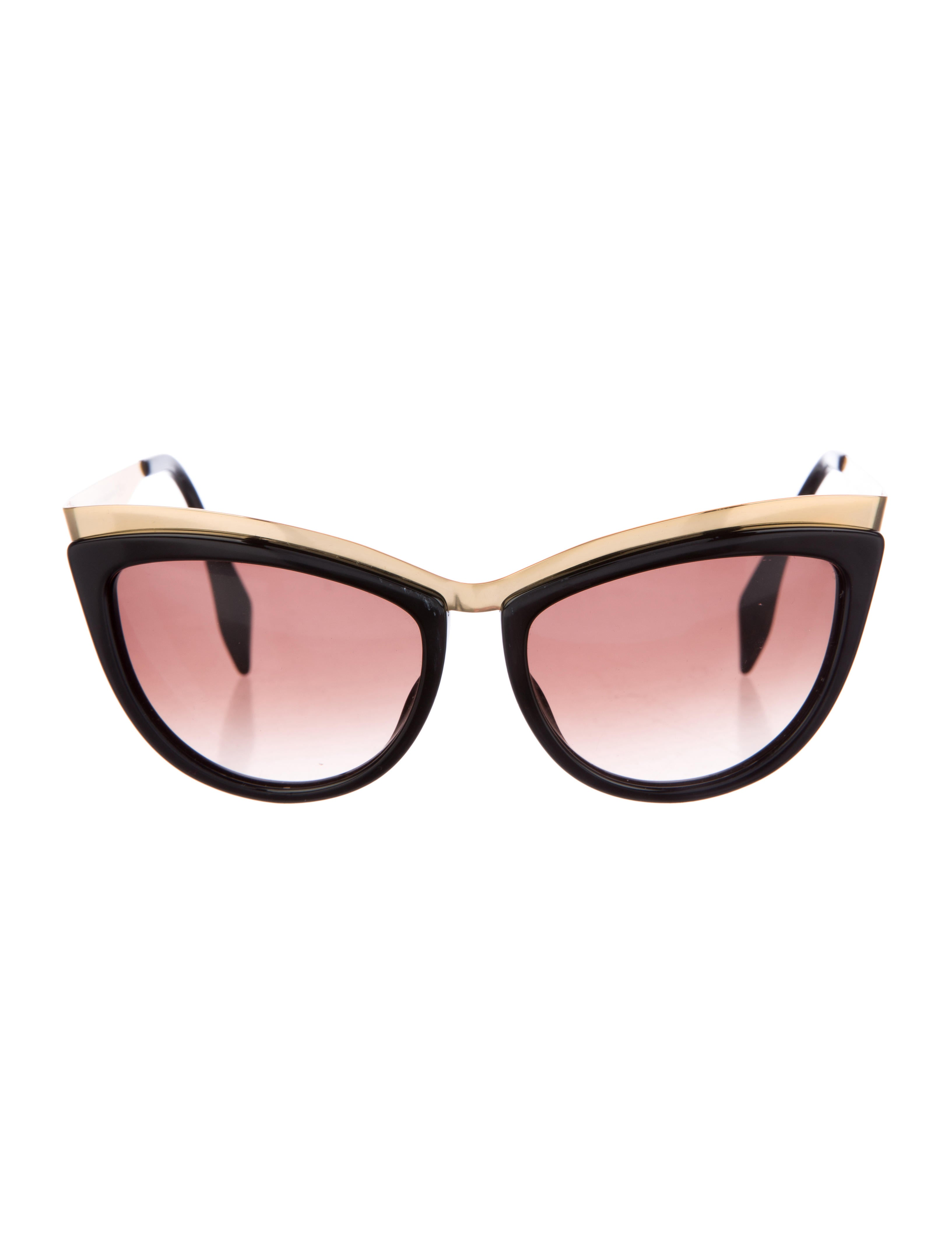 Alexander Mcqueen Cateye Sunglasses  alexander mcqueen cat eye tinted sunglasses accessories