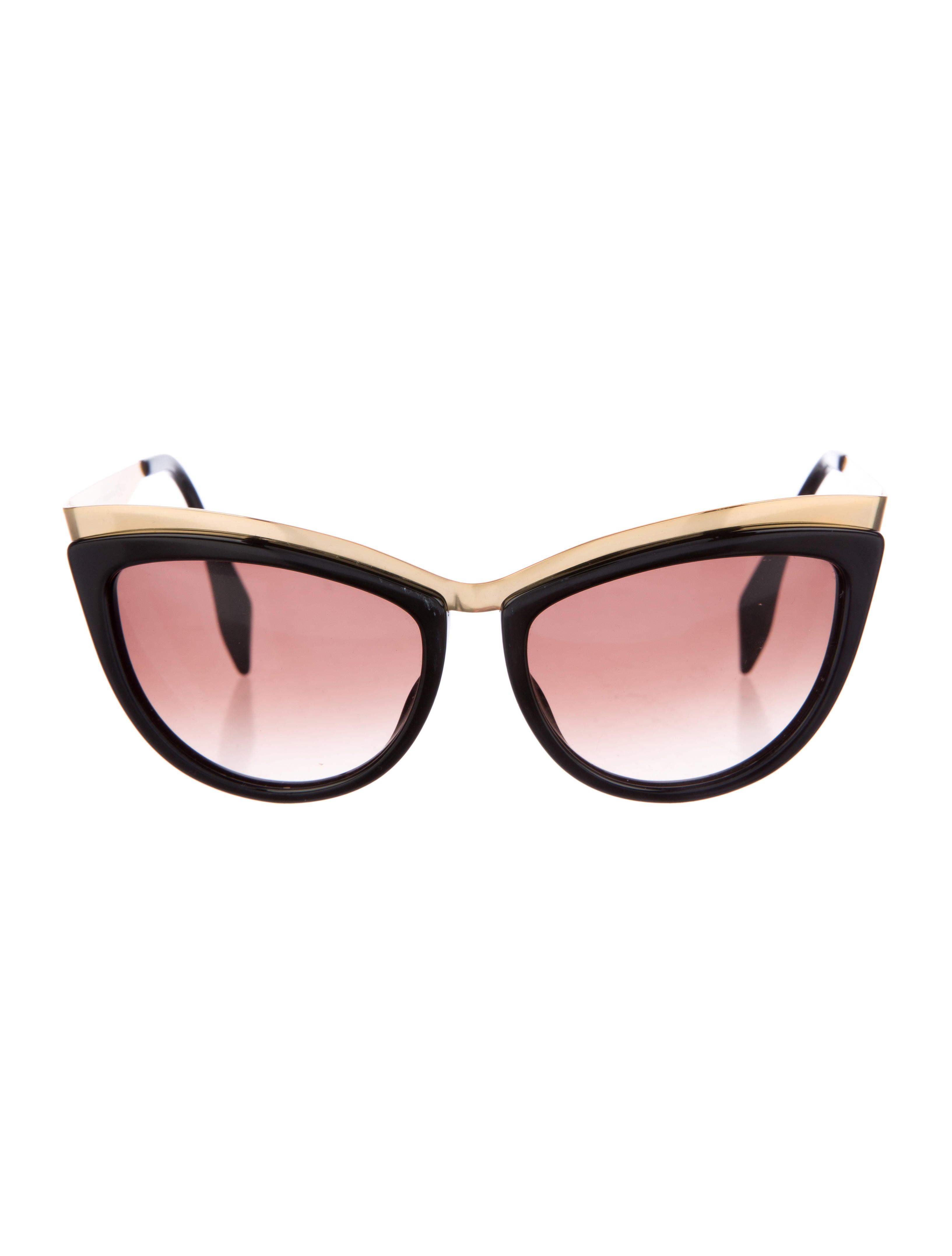 Alexander Mcqueen Cateye Sunglasses  alexander mcqueen cat eye tinted sunglasses accessories
