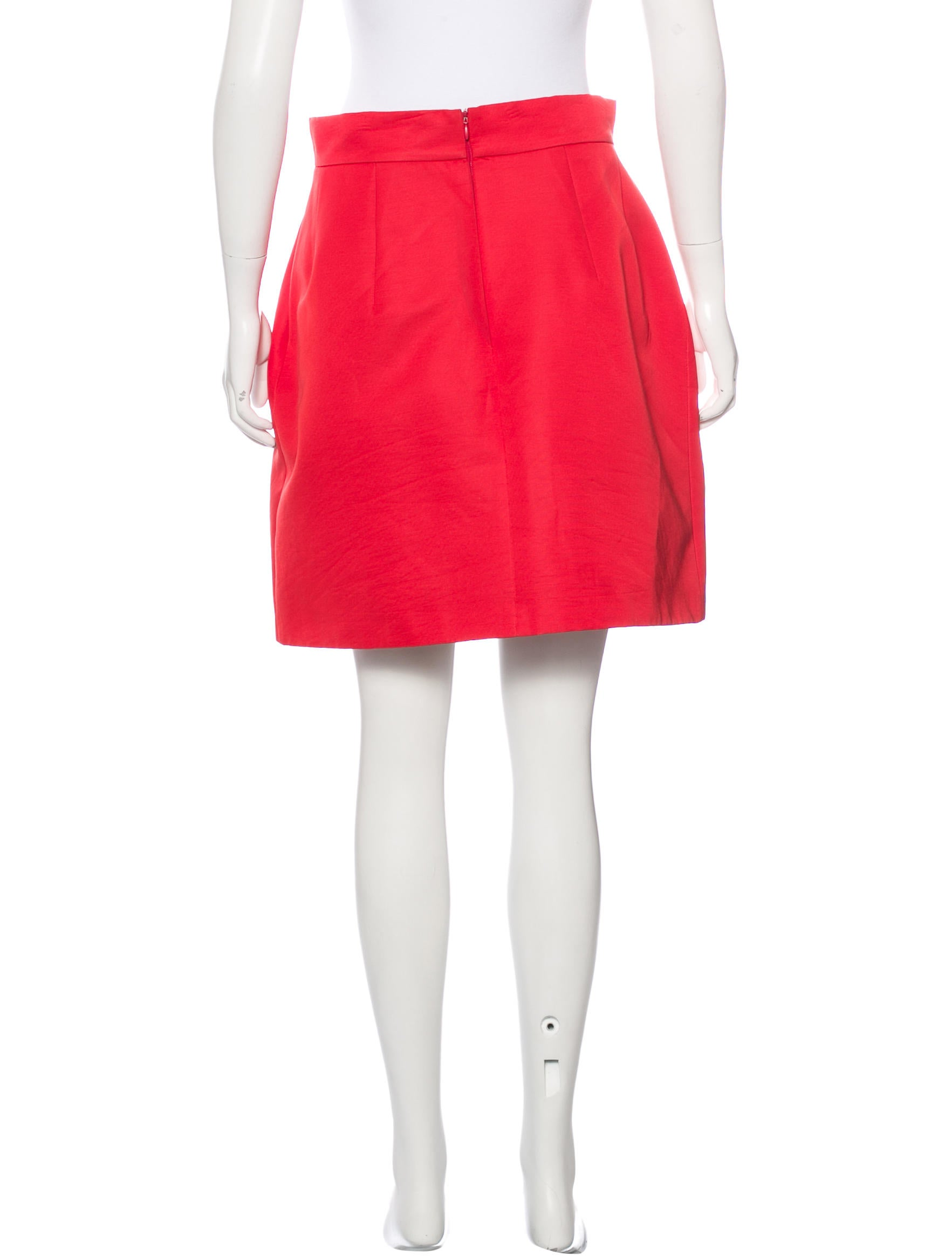 mcqueen structured a line skirt clothing