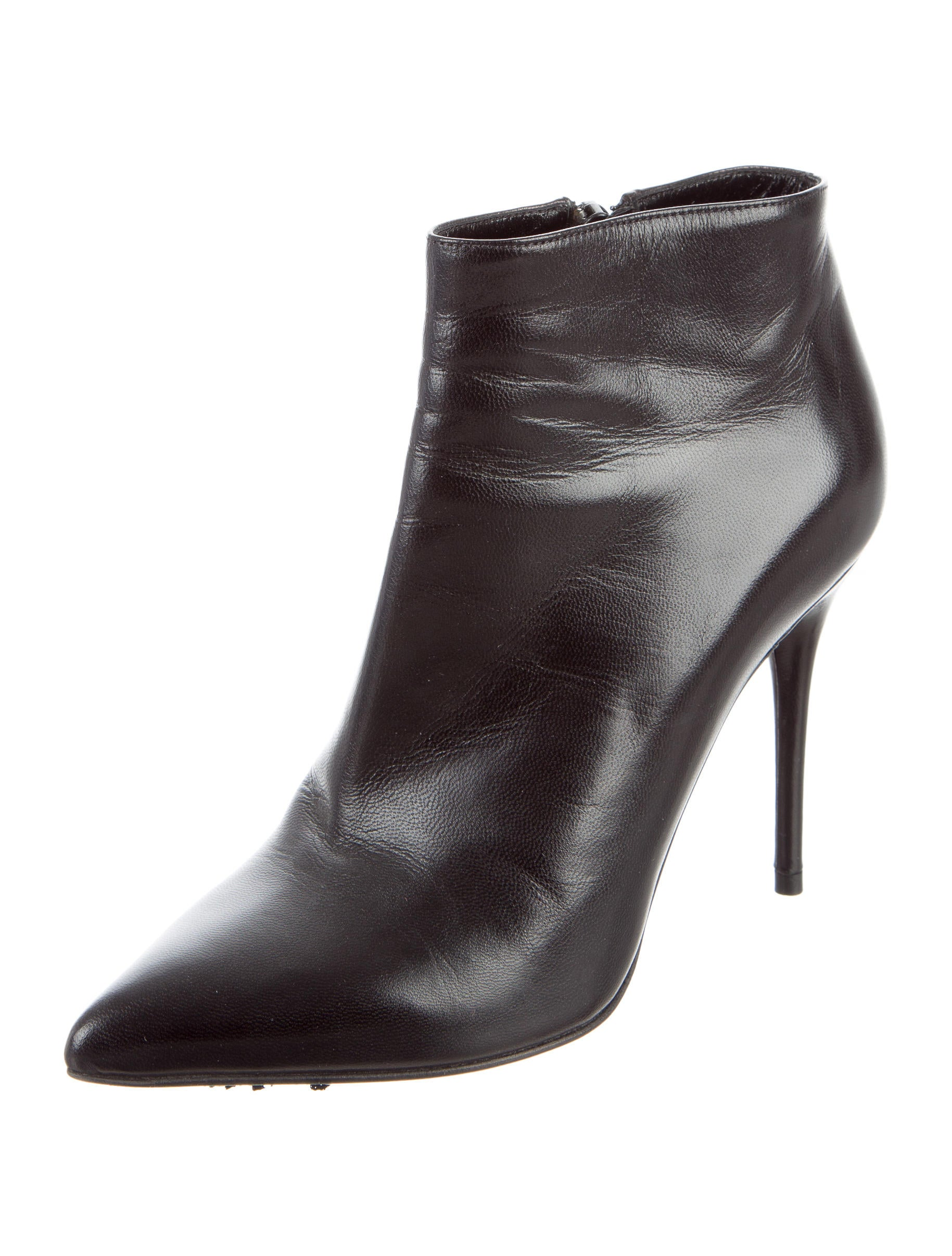 mcqueen leather pointed toe boots shoes