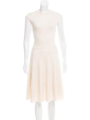 Alexander McQueen Wool & Silk-Blend Knit Dress None