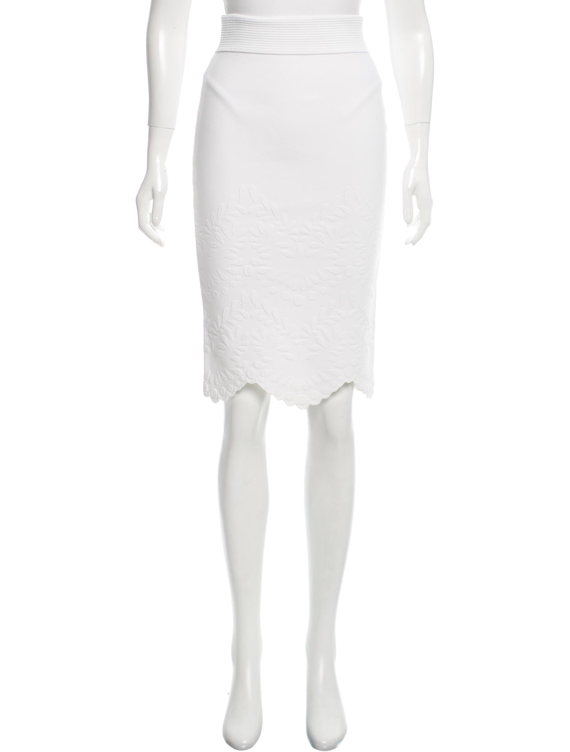 mcqueen knee length bodycon skirt clothing