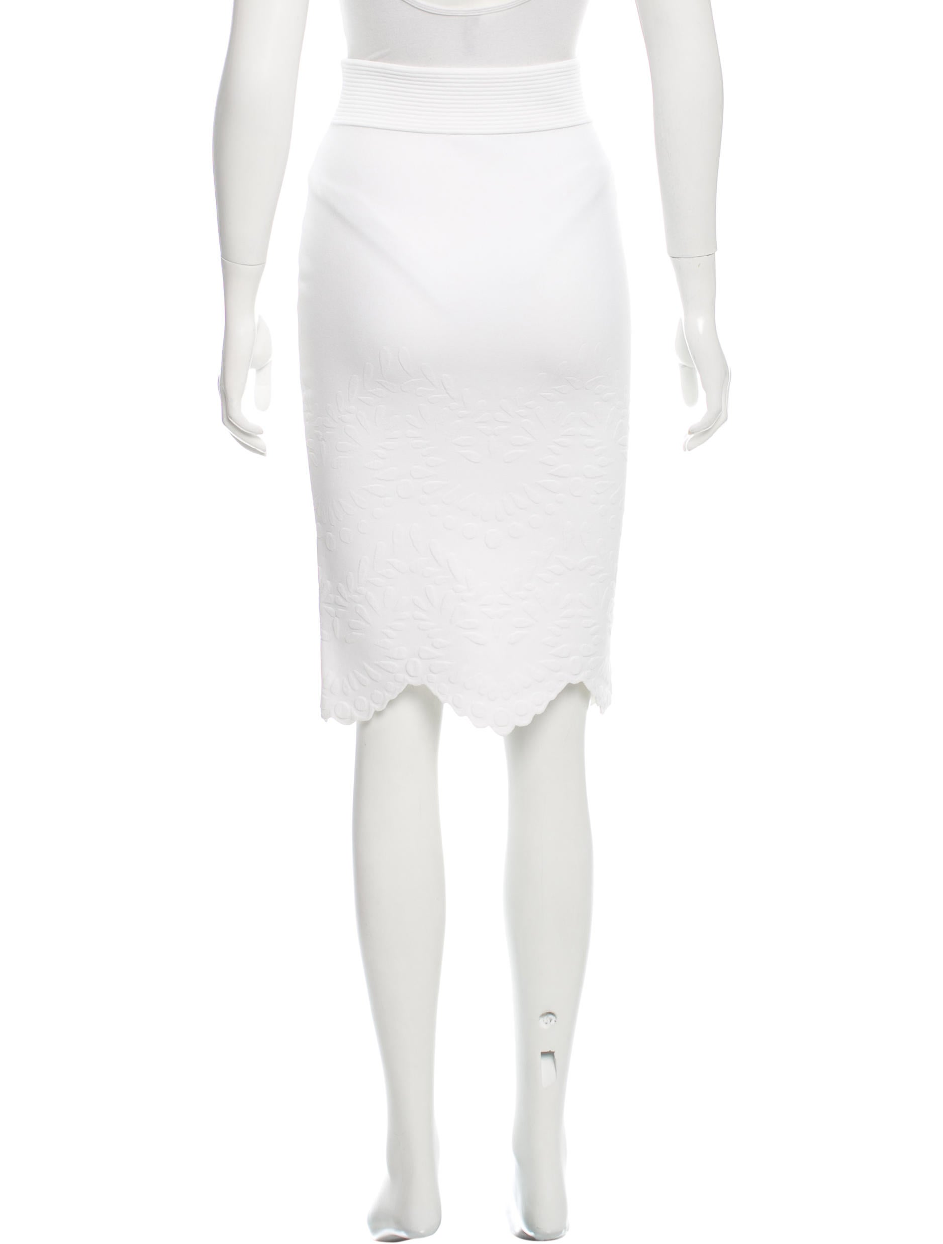 mcqueen knee length bodycon skirt clothing