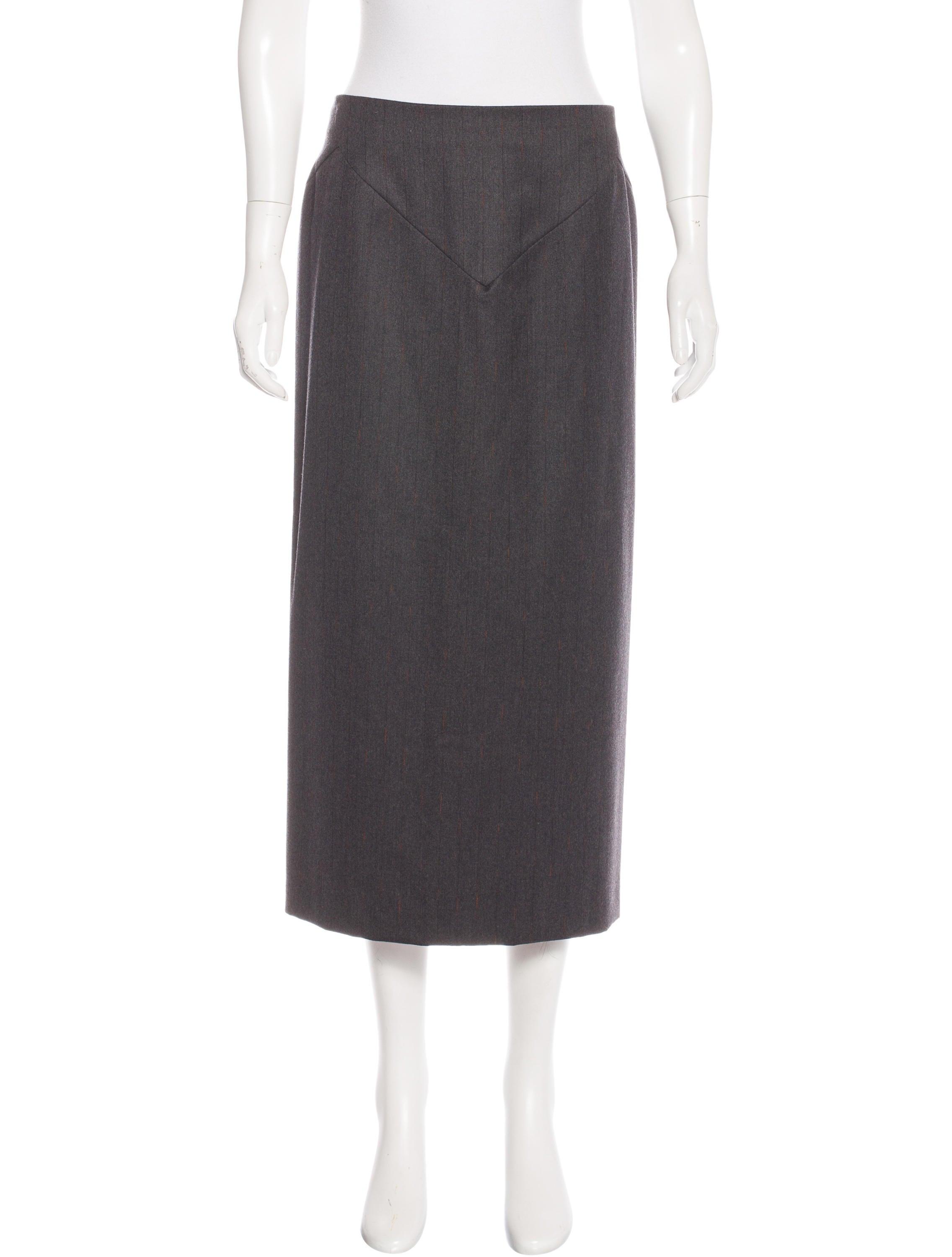 mcqueen wool midi skirt clothing ale38314
