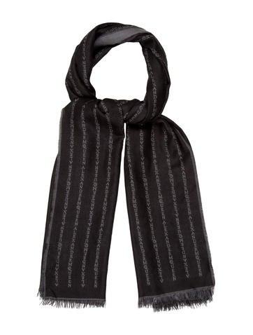 Alexander McQueen Wool & Silk Logo Scarf None
