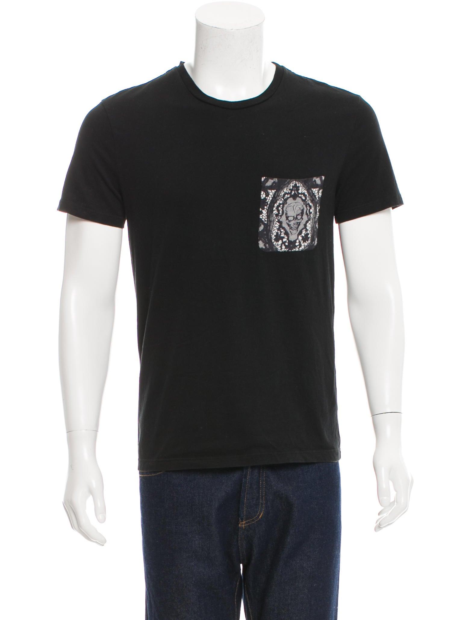 Alexander Mcqueen Skull Print Pocket T Shirt Clothing