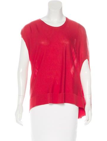 Alexander McQueen Sleeveless Wool Top None
