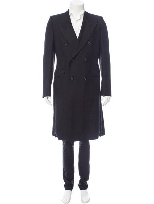 Alexander McQueen Double-Breasted Wool Coat black