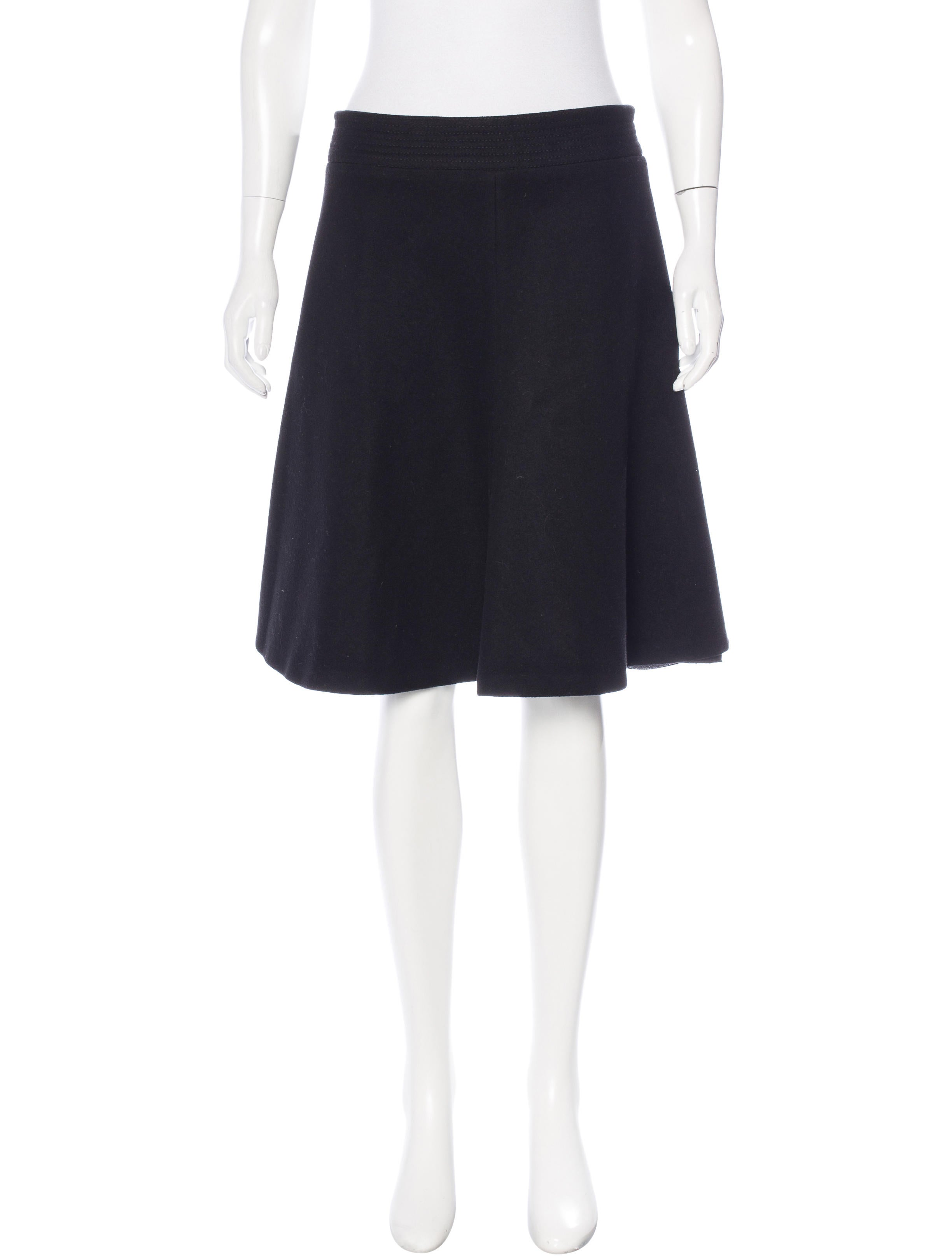 mcqueen wool a line skirt clothing ale38984