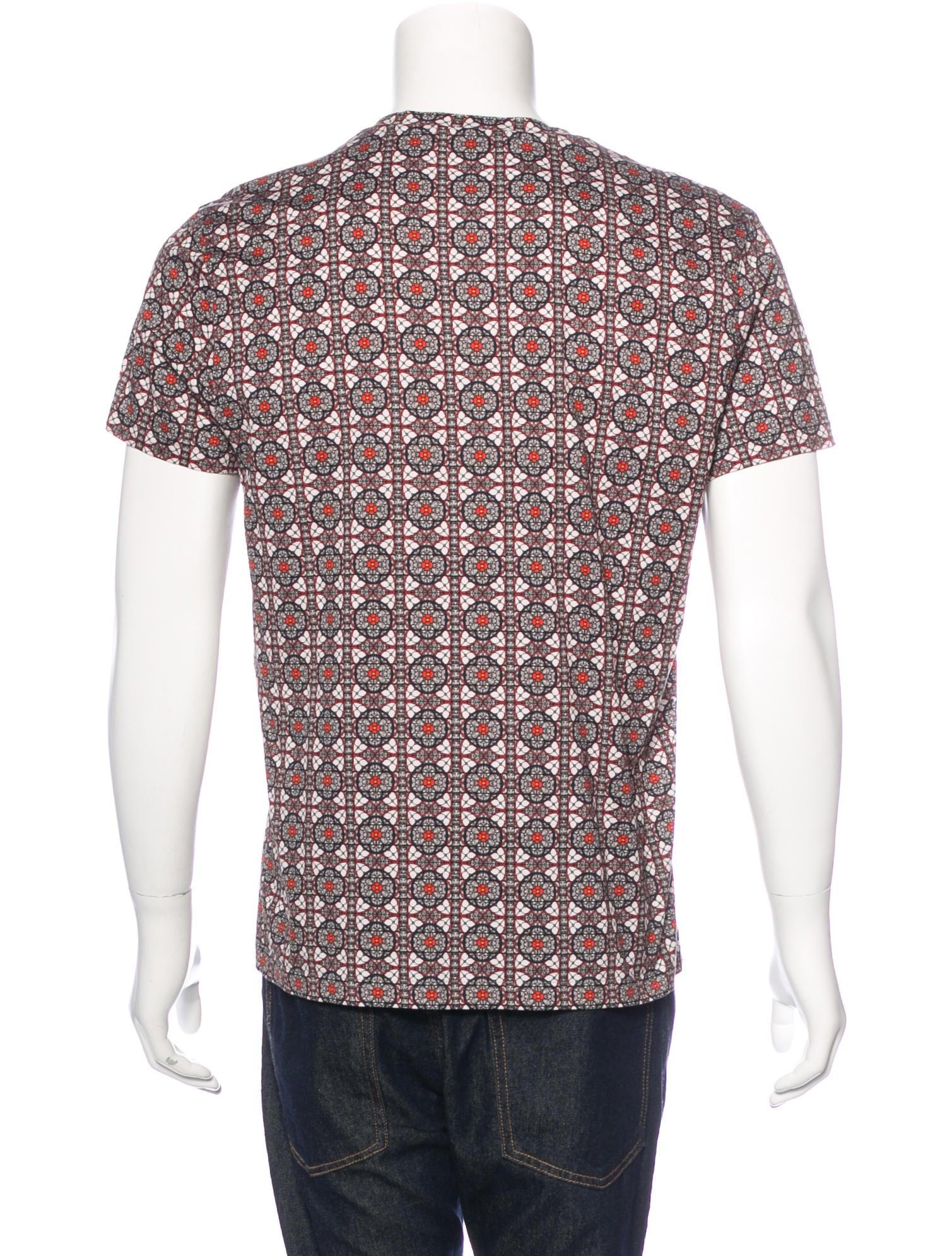Alexander McQueen Geometric Skull Print T-Shirt - Clothing ...