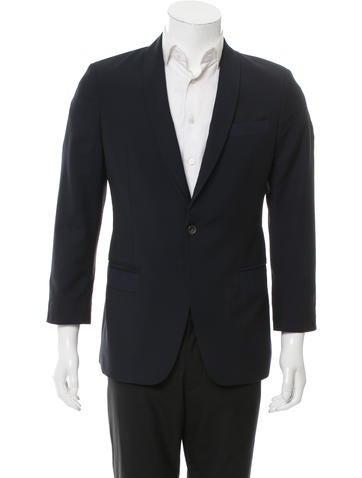 Alexander McQueen Wool One-Button Blazer None