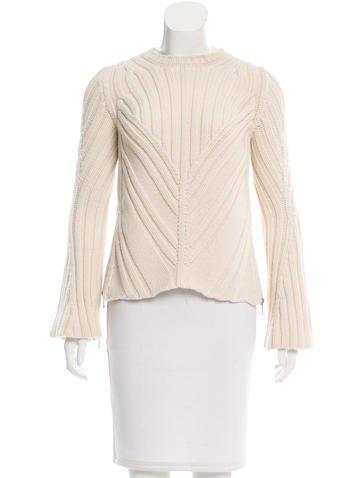 Alexander McQueen Wool Bell Sleeve Sweater None