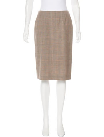 Alexander McQueen Plaid Knee-Length Skirt None