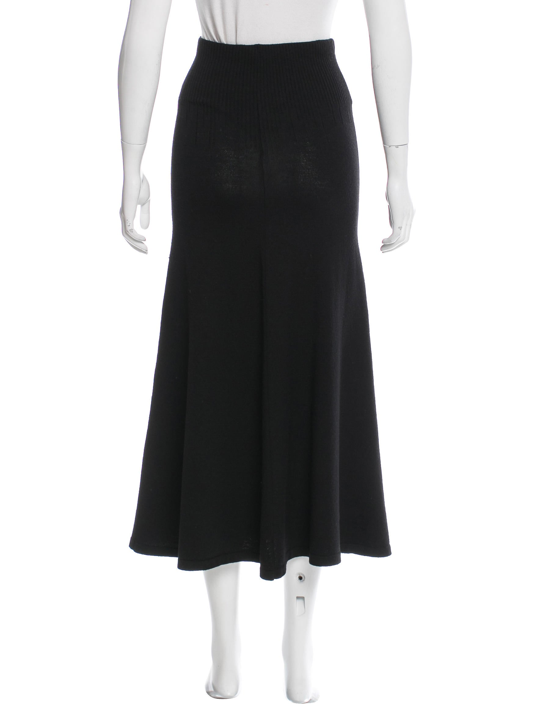 mcqueen wool midi skirt clothing ale40269
