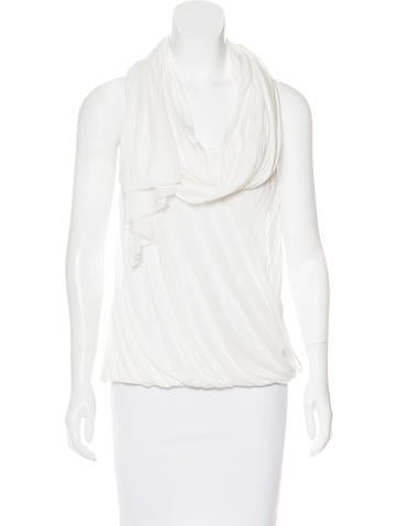 Alexander McQueen Sleeveless Draped Top None