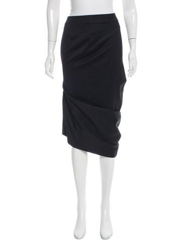 Alexander McQueen Wool Midi Skirt None