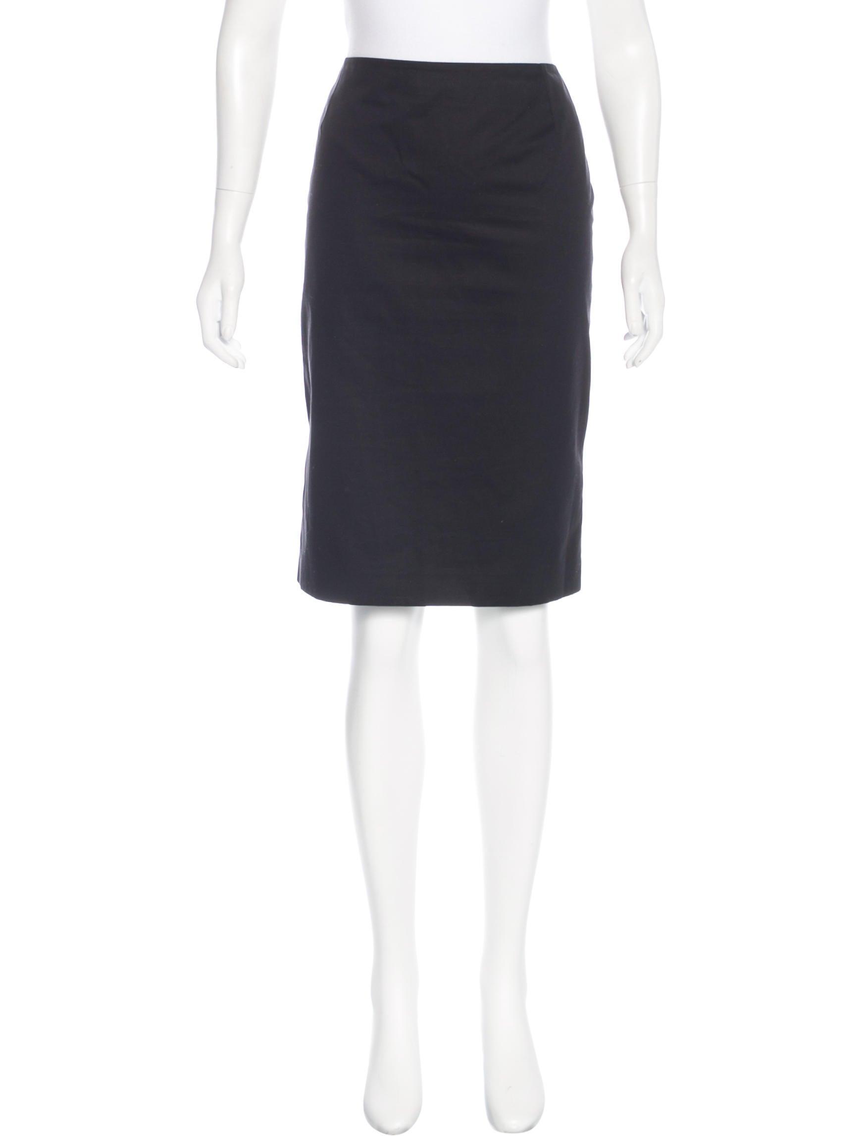 mcqueen knee length pencil skirt clothing