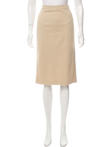 Alexander McQueen Knee-Length Knit Skirt None