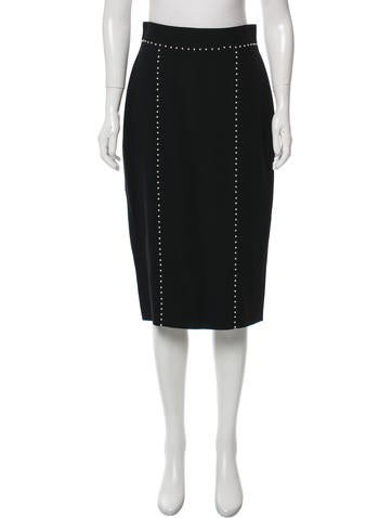 Alexander McQueen Embellished Pencil Skirt None