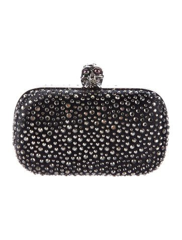 Alexander McQueen Crystal-Embellished Skull Box Clutch None