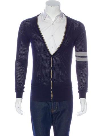 Alexander McQueen Open-Knit Button-Up Cardigan None