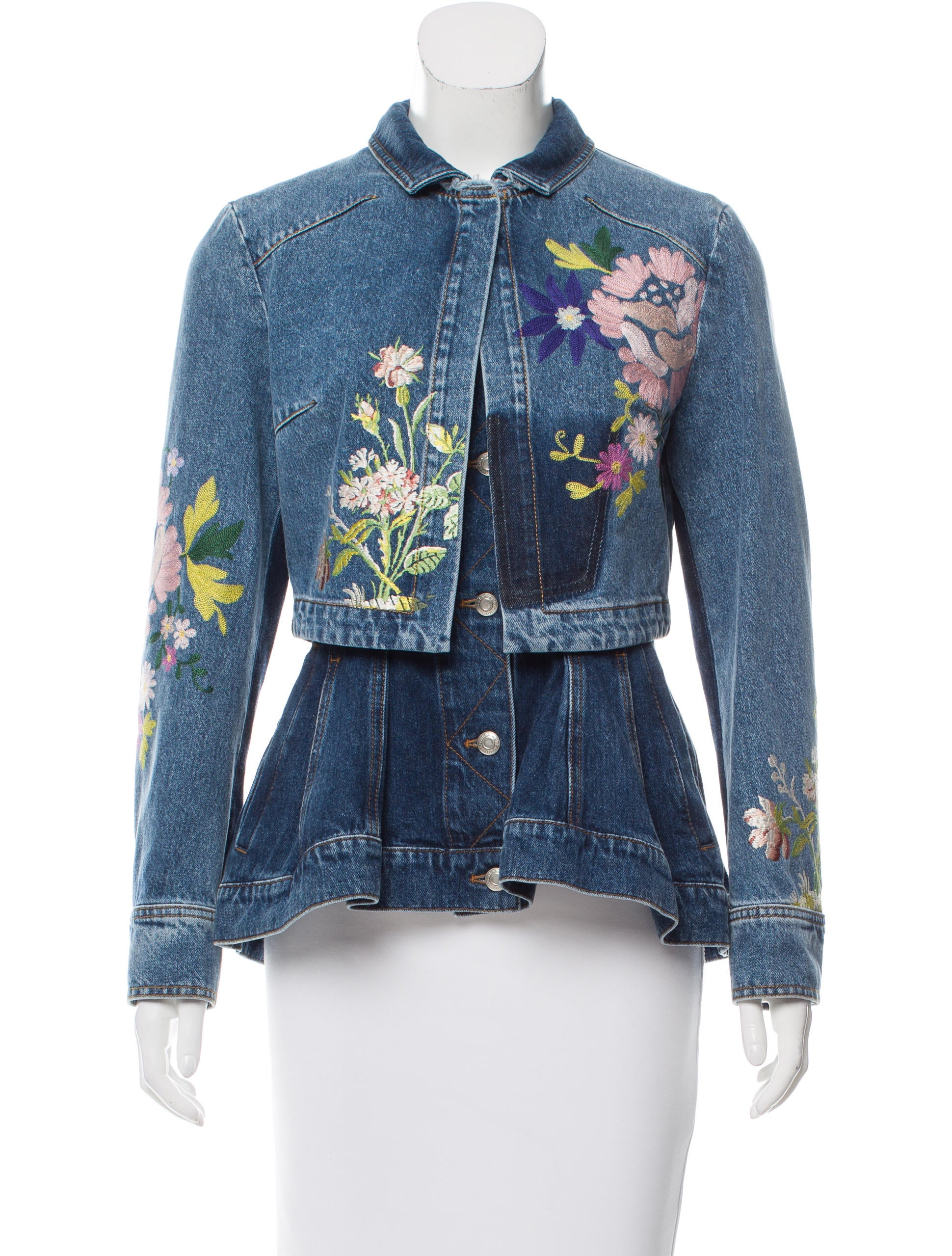 Alexander mcqueen embroidered denim jacket clothing