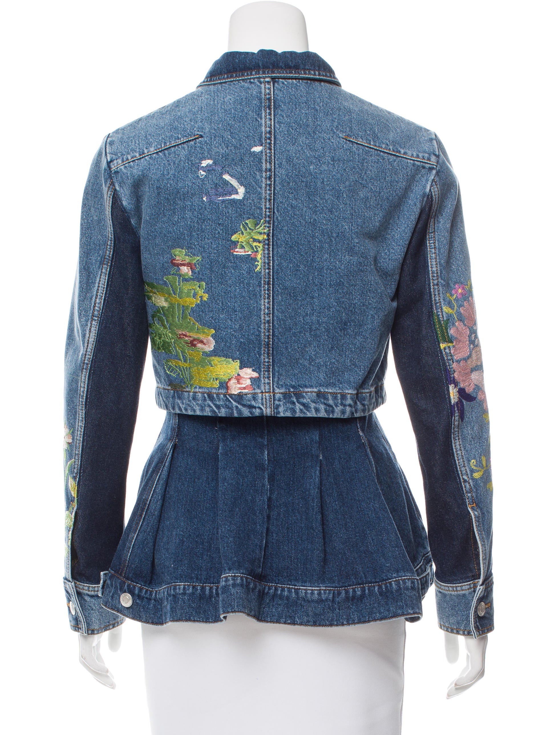 Alexander McQueen Embroidered Denim Jacket - Clothing - ALE41024 | The RealReal